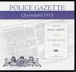 Queensland Police Gazette 1915