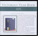 Victorian Year Book 1875