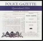 Queensland Police Gazette 1916
