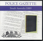 South Australian Police Gazette 1889