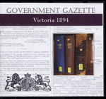 Victorian Government Gazette 1894