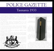 Tasmania Police Gazette 1933