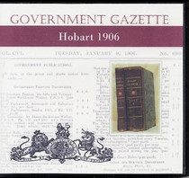 Hobart Government Gazette 1906