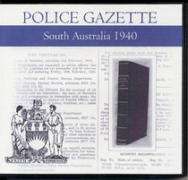 South Australian Police Gazette 1940