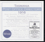 Tasmania Post Office Directory 1916 (Wise)