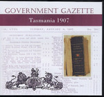Tasmanian Government Gazette 1907