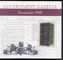 Tasmanian Government Gazette 1908