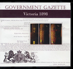 Victorian Government Gazette 1898