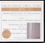 Melbourne Directory 1873 (Sands and McDougall)