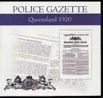 Queensland Police Gazette 1920