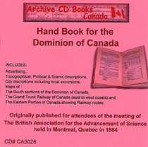 Hand Book for the Dominion of Canada