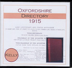 Oxfordshire 1915 Kelly's Directory
