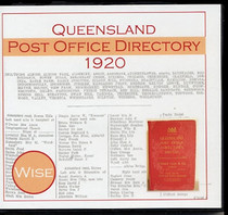 Queensland Post Office Directory 1920 (Wise)