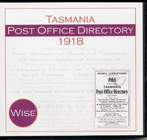 Tasmania Post Office Directory 1918 (Wise)