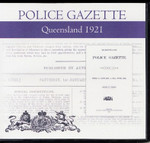 Queensland Police Gazette 1921