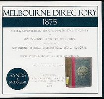 Melbourne Directory 1875 (Sands and McDougall)