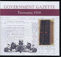 Tasmanian Government Gazette 1910