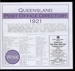 Queensland Post Office Directory 1921 (Wise)