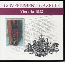 Victorian Government Gazette 1852