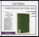 Victoria Commonwealth Electoral Roll 1939 Fawkner