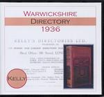 Warwickshire 1936 Kelly's Directory