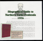 Biographical Guide to Northern Yorke Peninsula 1976