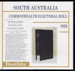 South Australia Commonwealth Electoral Roll 1939 Boothby