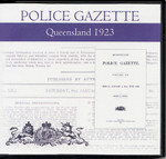 Queensland Police Gazette 1923