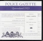 Queensland Police Gazette 1923