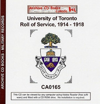 University of Toronto Roll of Service 1914-1918