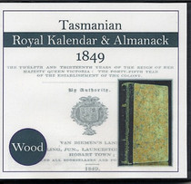 Tasmanian Royal Kalendar and Almanack 1849 (Wood)