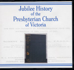 Jubilee History of the Presbyterian Church of Victoria