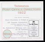 Tasmania Post Office Directory 1922 (Wise)