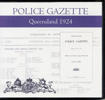 Queensland Police Gazette 1924