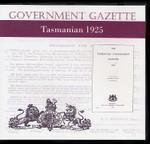 Tasmanian Government Gazette 1925
