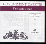 Tasmanian Government Gazette 1926