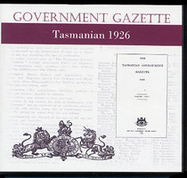 Tasmanian Government Gazette 1926