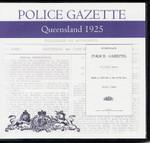 Queensland Police Gazette 1925