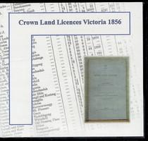 Crown Land Licences Victoria 1856