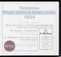 Tasmania Post Office Directory 1924 (Wise)