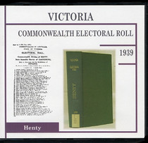 Victoria Commonwealth Electoral Roll 1939 Henty