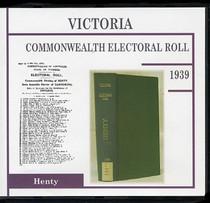 Victoria Commonwealth Electoral Roll 1939 Henty