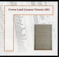 Crown Land Licences Victoria 1853