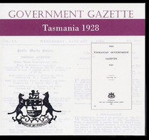Tasmanian Government Gazette 1928