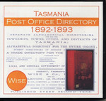 Tasmania Post Office Directory 1892-1893 (Wise)