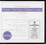 Tasmania Post Office Directory 1925 (Wise)