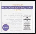 Tasmania Post Office Directory 1925 (Wise)