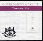 Tasmanian Government Gazette 1929