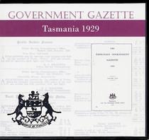 Tasmanian Government Gazette 1929