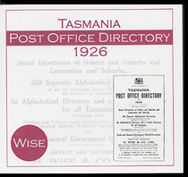 Tasmania Post Office Directory 1926 (Wise)